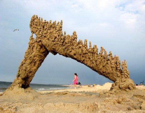 Esculturas de areia diferentes 5