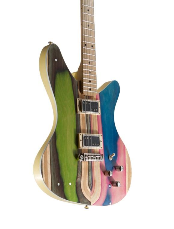 guitarras feitas de Skate 11
