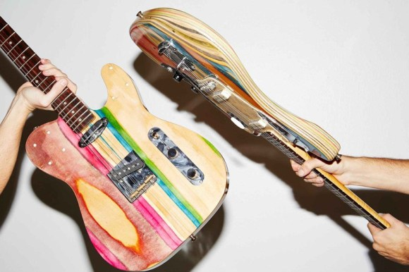 guitarras feitas de Skate 2