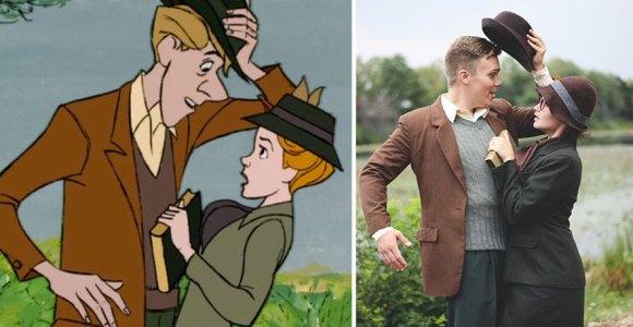 """Esse casal recriou, na vida real, cenas da animação """"101 Dálmatas"""""""