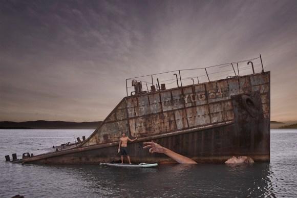 Grafite navio naufragado 1