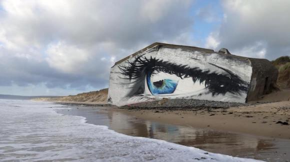 Mural olho mar 6
