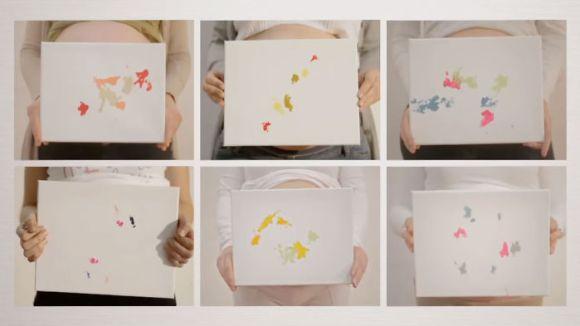 Pintura de bebês não nascidos 4