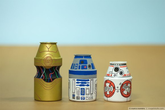 Yakult Parade Star Wars - c3po-r2d2-bb8