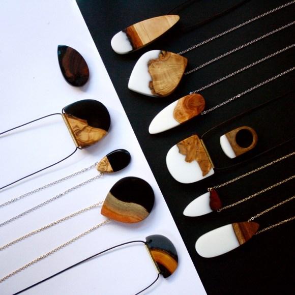 Joias de pedaços de madeira 7