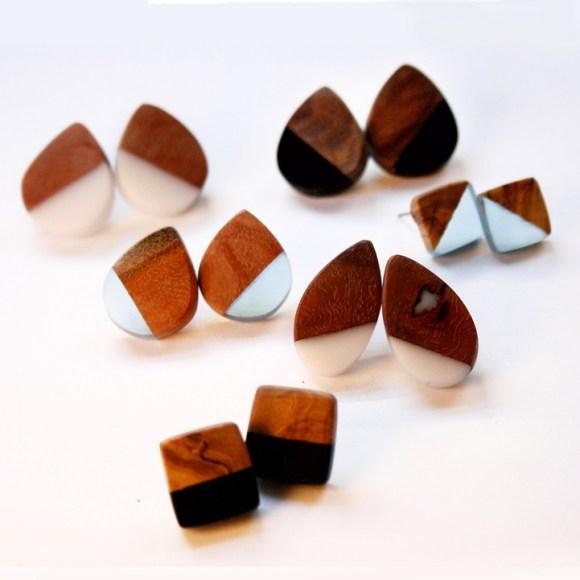 Joias de pedaços de madeira 9