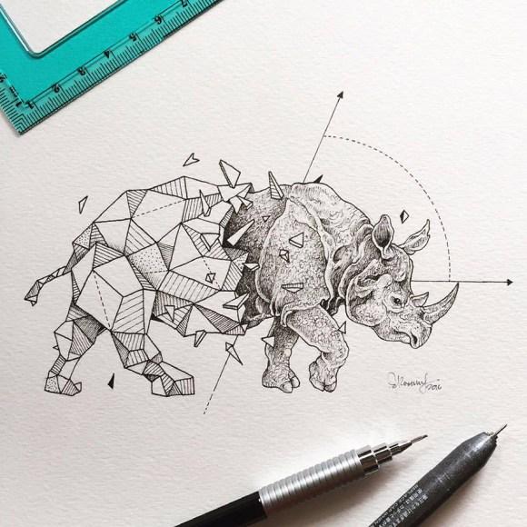 animais e geometria 8
