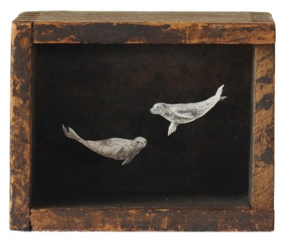 Arte - mundos em caixas de madeira 5