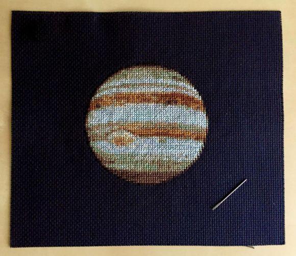 Bordado de planetas - Júpiter