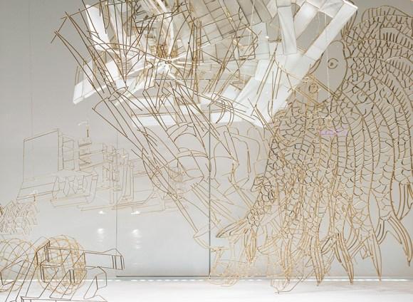 Esculturas suspensas de bambu 6