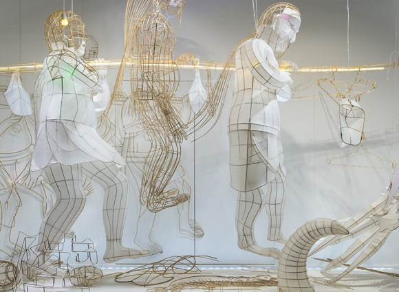 Esculturas suspensas de bambu 7