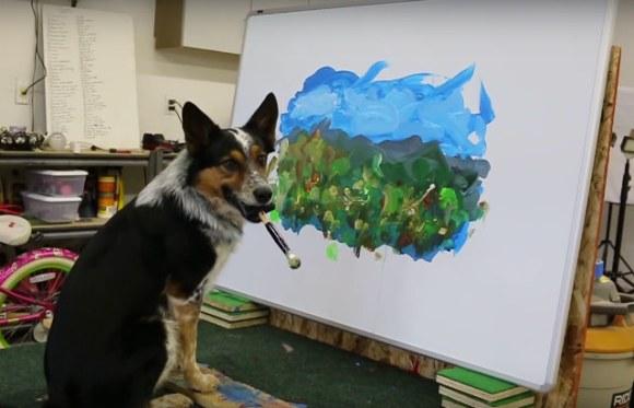 dog-paints-landscape[1]