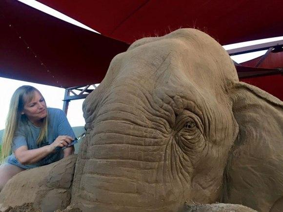 Escultura de areita - elefante 4