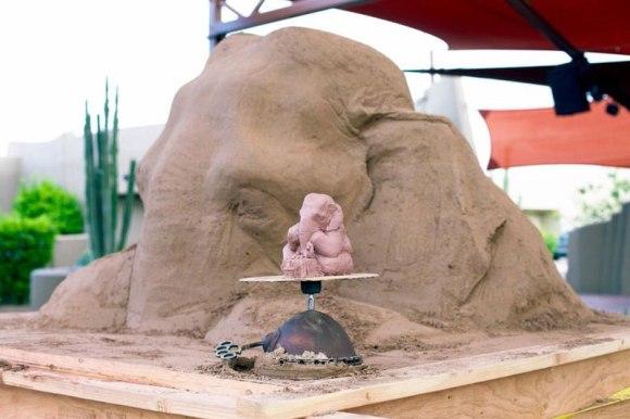 Escultura de areita - elefante 5