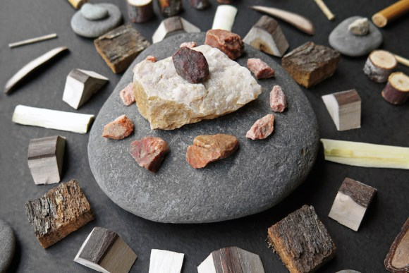 Mandalas de madeira e pedras 8