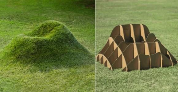 Faça uma poltrona surgir no gramado com essa criação
