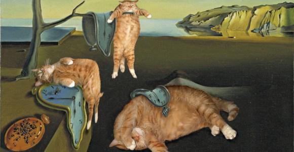 Essa artista coloca seu gato dentro de pinturas famosas