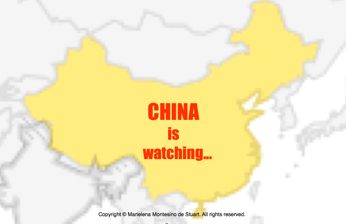 China is watching
