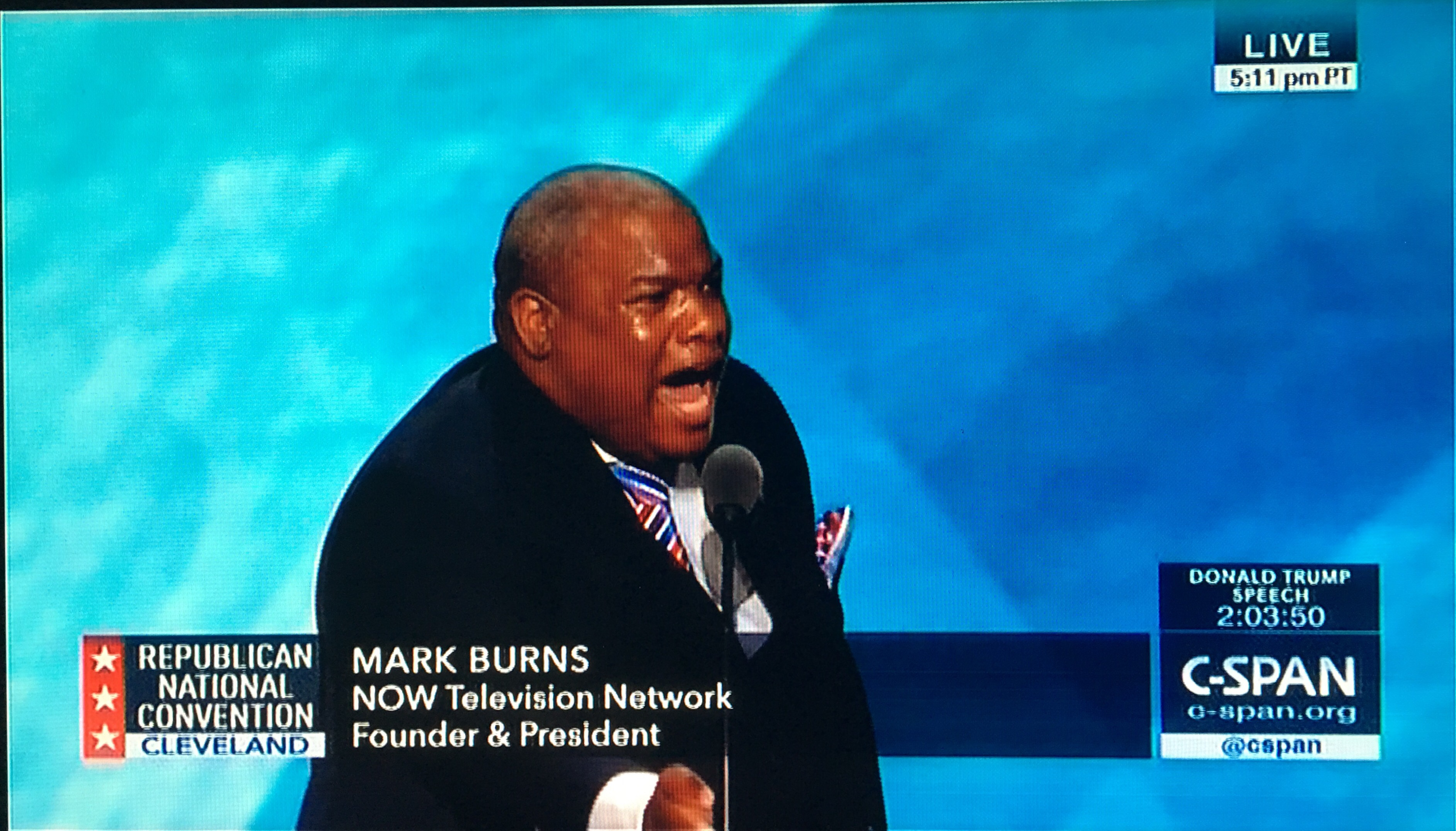 REPUBLICAN CONVENTION: Heart-pounding, foot-stomping speech by Pastor Mark Burns