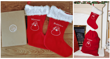 Personalised Christmas Stockings from Arty Apple