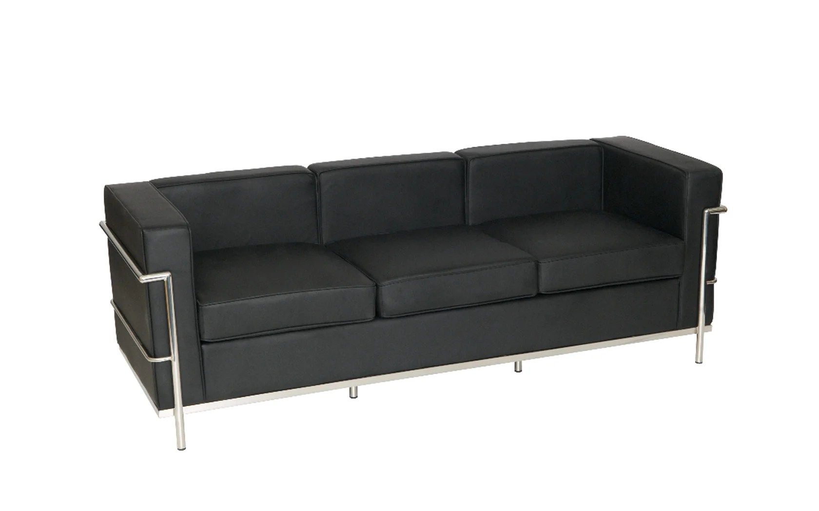 office furniture sofa uk sectional with sleeper and recliner le corbusier style three seater sj009 3