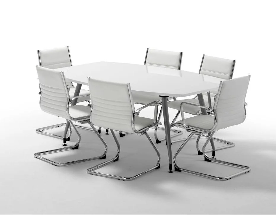 adjustable height chairs chair that folds into bed high gloss white boardroom table - somercotes office furniture ltd