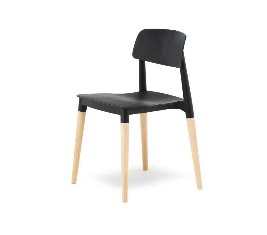 black plastic chair with wooden legs rocking chairs for nursery under 100 cashew cs01 somercotes office 8 preview