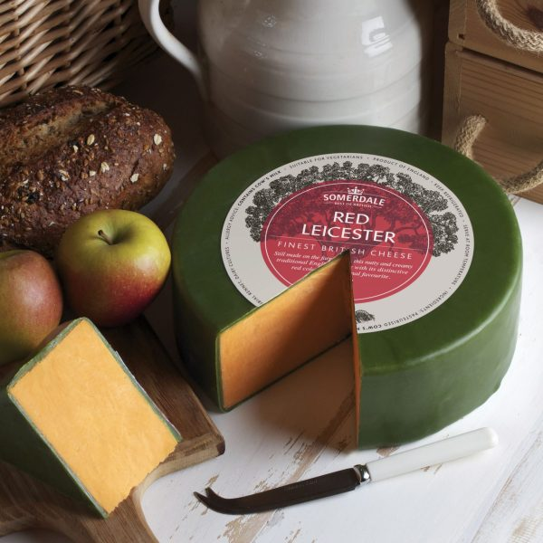 Somerdale Red Leicester - 3kg Waxed Deli Wheel
