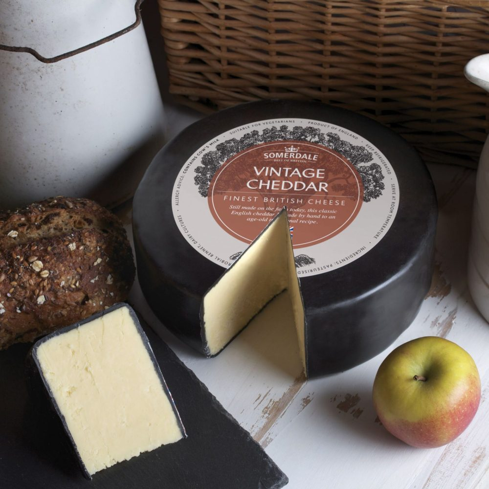 Somerdale Black Waxed Vintage Cheddar