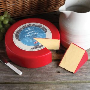 Somerdale White Cheshire - 3kg Waxed Deli Wheel