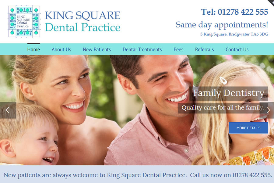 King Square Dental Practice - Dentist website designers in Somerset