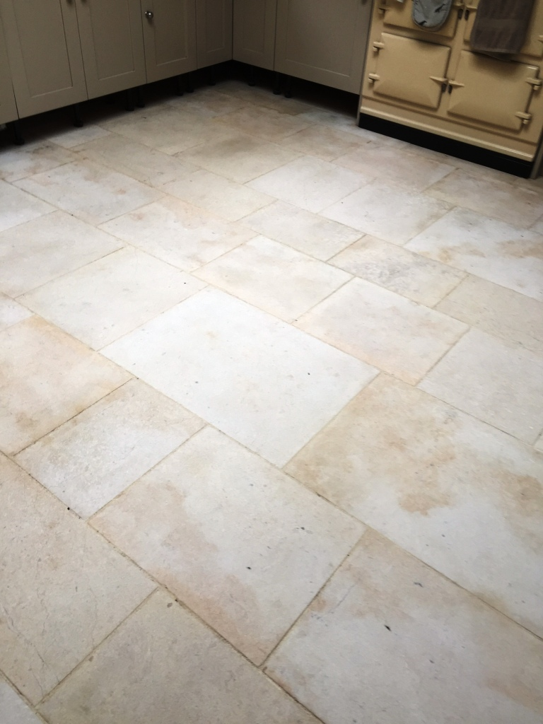 Deep Cleaning a Limestone KitchenFloor in Somerset  Cleaning Tile