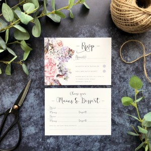 Wedding Stationery RSVP Flatlay
