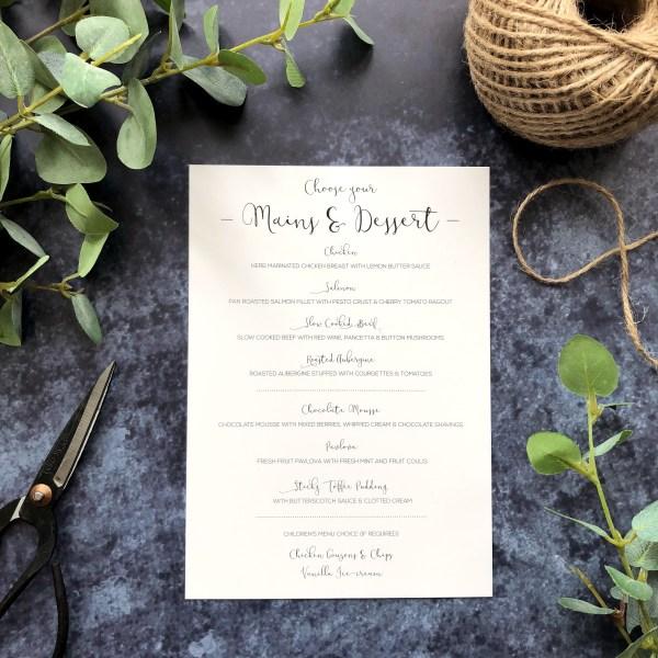 Floral Wedding Stationery Flatlay