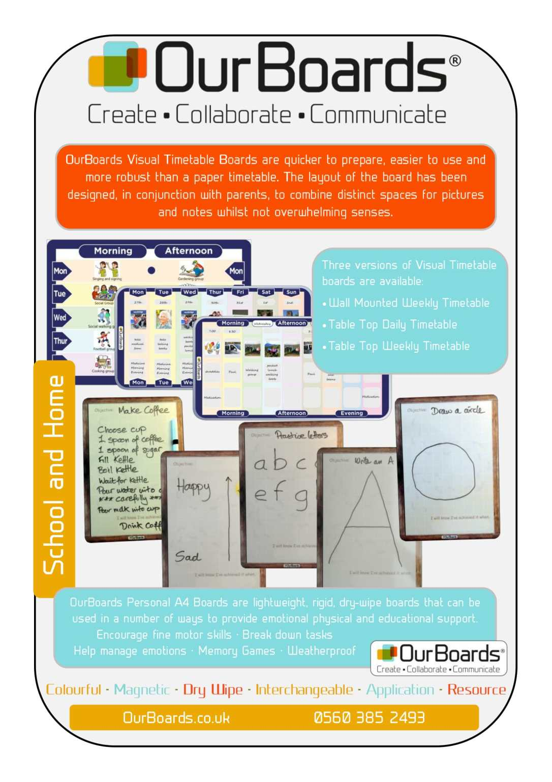OurBoards For Schools and Home April 2017-2