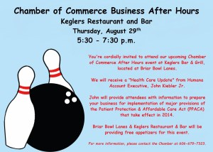 Keglers After Hours Invitation