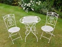White Iron Bistro Style Garden Patio Set Somerset South