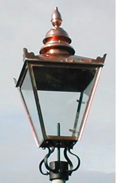 32 X 15 Copper Victorian Style Replacement Lamp Lantern