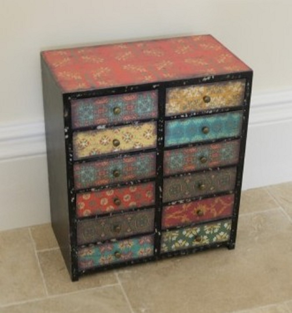 12 draw multicoloured chest Somerset Reclamation Radstock