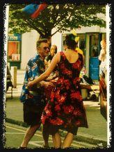 Dancers in street