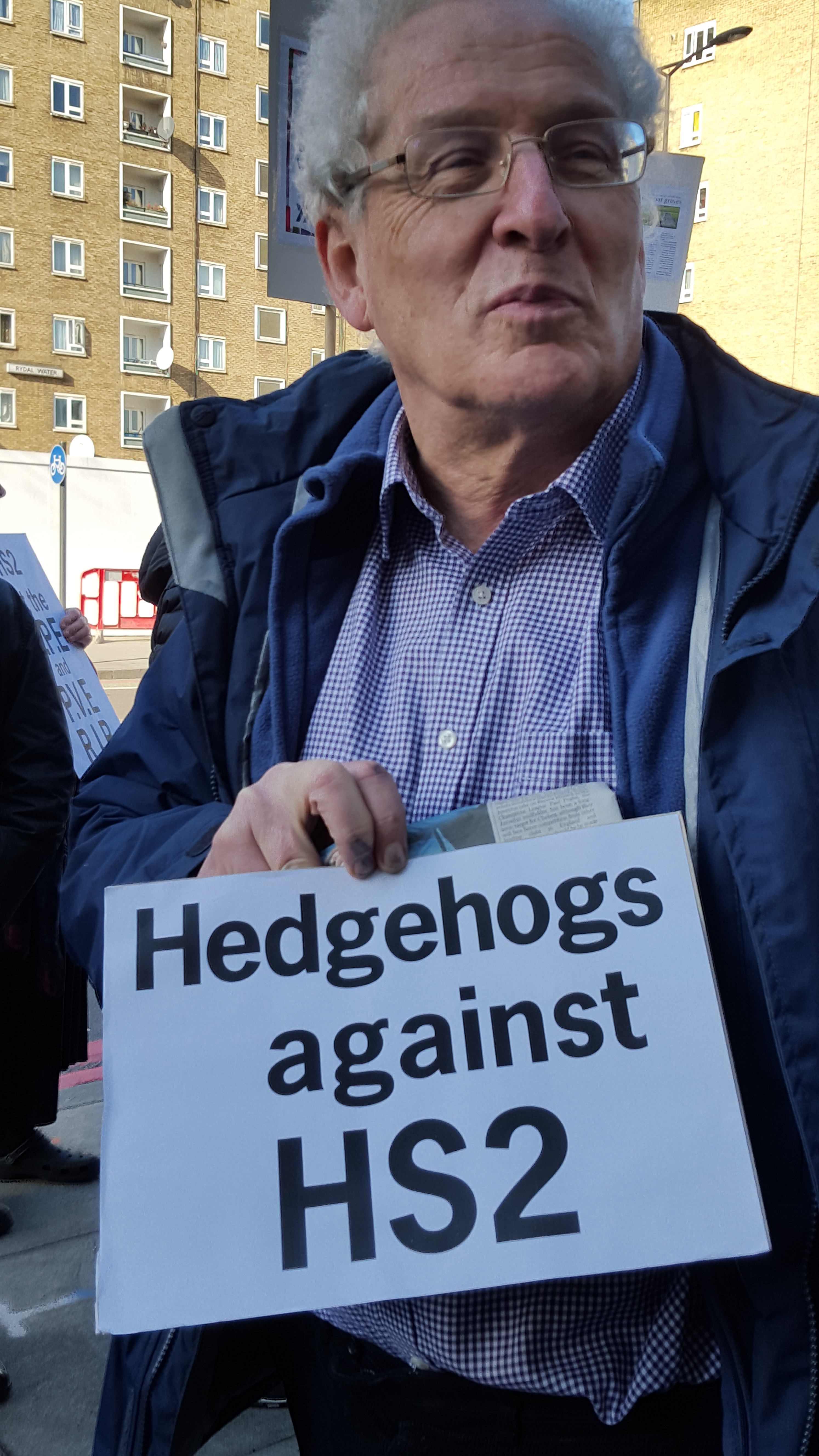 HS2 protestor.