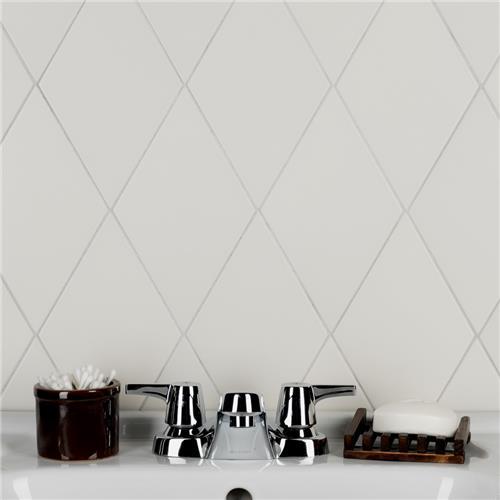 rhombus smooth white 5 1 2 x9 1 2