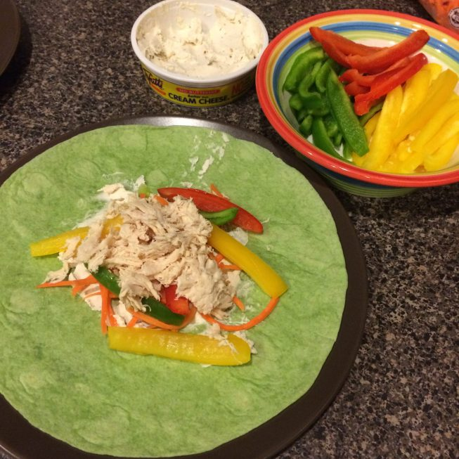 Veggie Wraps With Tofutti Cream Cheese - Some Shananagins