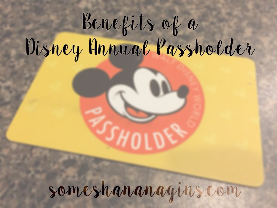 Benefits of a Disney Annual Passholder - Some Shananagins