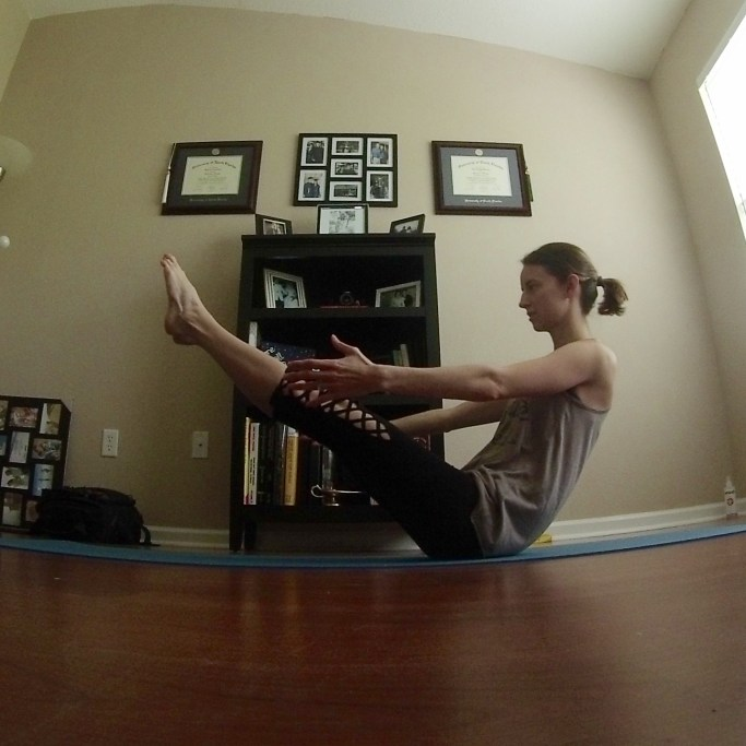 Yoga Challenge Day 18: Boat Pose - Some Shananagins