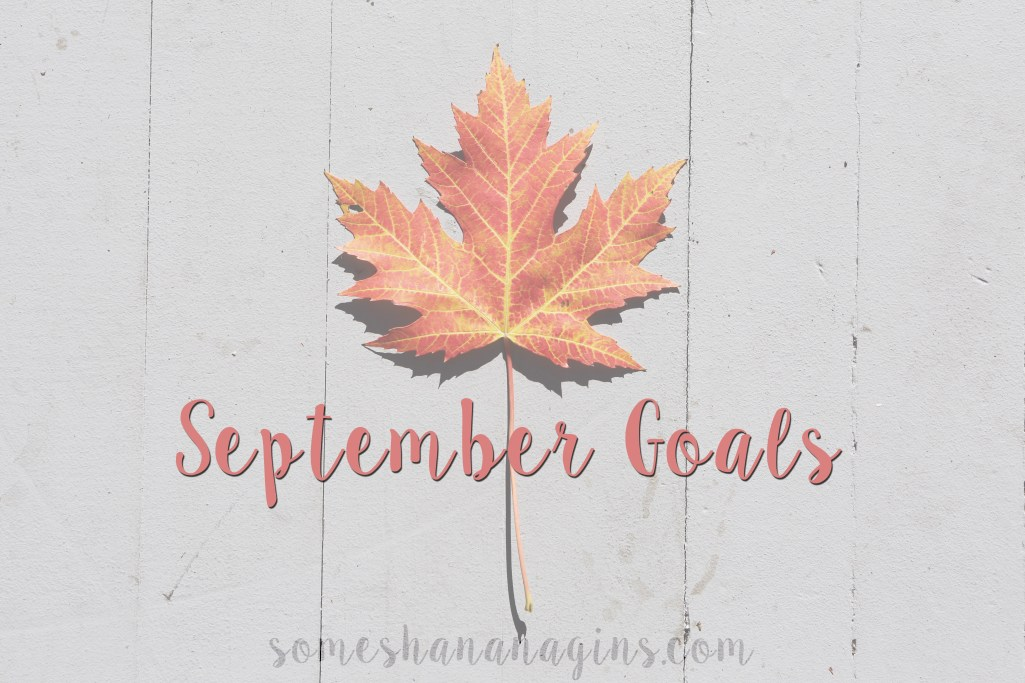 September Goals - Some Shananagins