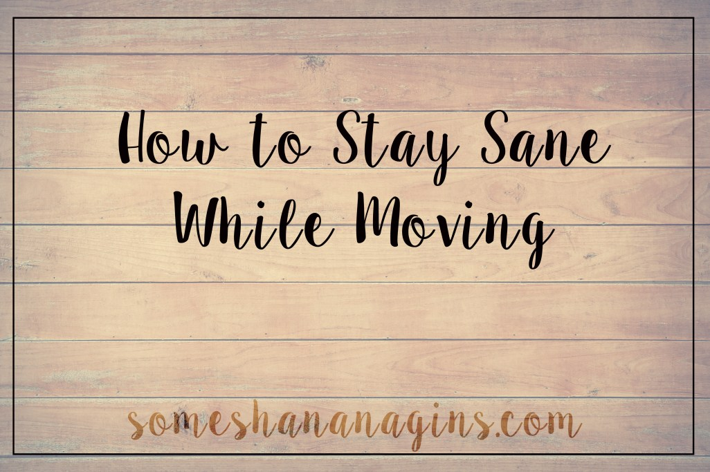 How To Stay Sane While Moving - Some Shanaangins