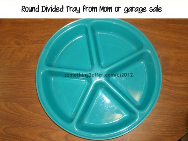Round Divided Tray
