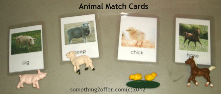 animal match cards
