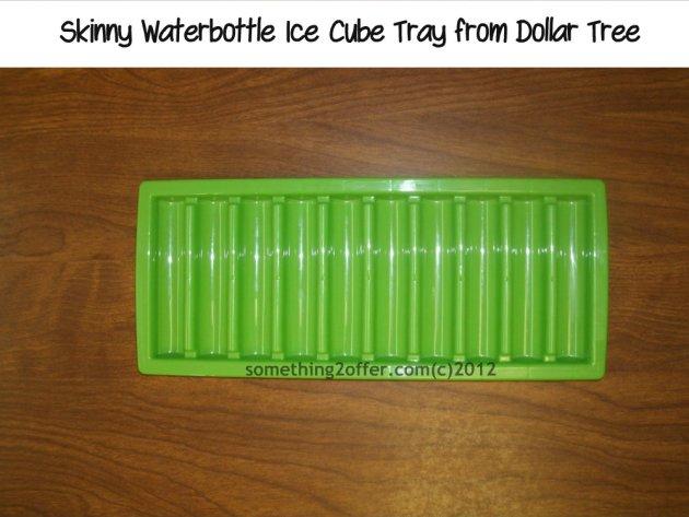 Skinny water bottle ice cube tray